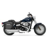 Harley Dyna Fat Bob FXDF Lamellar Large Black Hard Saddlebags 2