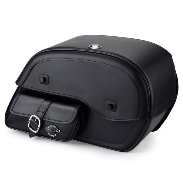 Honda VTX 1300 F Side Pocket Leather Saddlebags 1