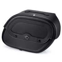 Honda VTX 1300 F Spear Shock Cutout Leather Saddlebags