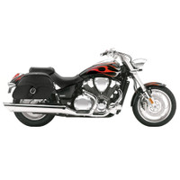 Honda VTX 1800 C Charger Large Single Strap Leather Saddlebags 1
