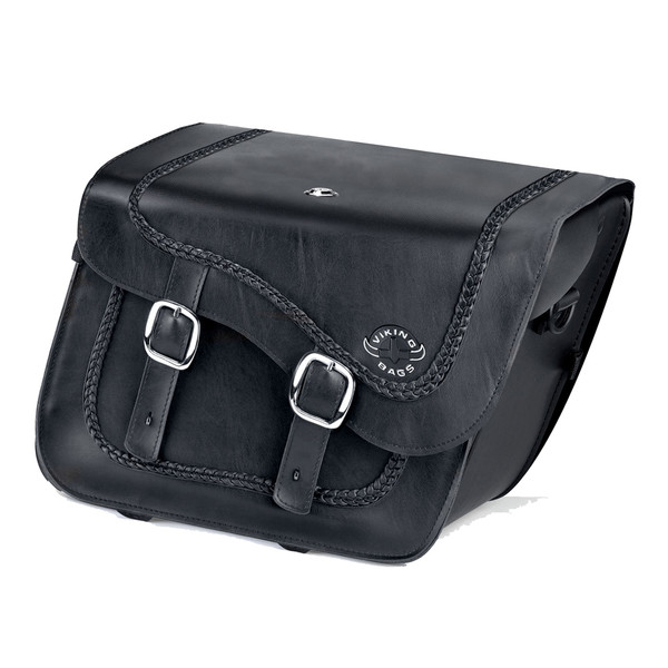 Harley Dyna Low Rider FXDL Charger Braided Leather Saddlebags