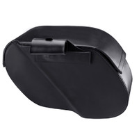 Honda VTX 1800 F Charger Side Pocket Shock Cutout Leather Saddlebags  7