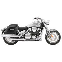 Honda VTX 1800 F Lamellar Shock Cutout Covered Hard Saddlebags