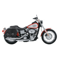Harley Dyna Low Rider FXDL Charger Large Slanted Leather Saddlebags 2