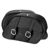 Harley Dyna Low Rider FXDL Charger Medium Slanted Leather Saddlebags 4