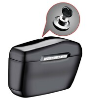 Honda VTX 1800 R Retro Lamellar Large Black Hard Saddlebags 4