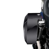 Honda VTX 1800 R Retro Viking Lamellar Extra Large Shock Cutout Saddlebags