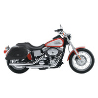 Harley Dyna Low Rider FXDL Medium Warrior Series Leather Saddlebags 2