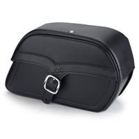 Honda VTX 1800 T Charger Medium Single Strap Leather Saddlebags