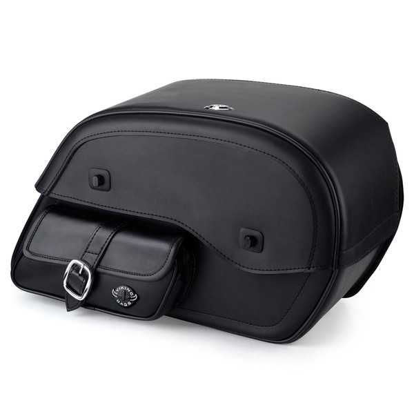 Harley Dyna Low Rider FXDL Side Pocket Leather Saddlebags1