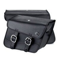 Harley Dyna Low Rider FXDL Thor Series Small Leather Saddlebags 6