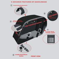 Kawasaki Vulcan 1500 and 1600 Classic Saddlebags with Shock cut Away and Mounting hardware 5