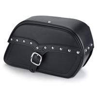 Harley Dyna Street Bob Charger Large Single Strap Leather Saddlebags
