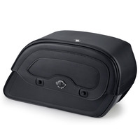 Kawasaki Vulcan 800 Classic Warrior Series Medium Leather Saddlebags