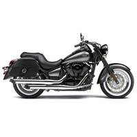Kawasaki Vulcan 900 Classic Charger Large Single Strap Leather Saddlebags 1