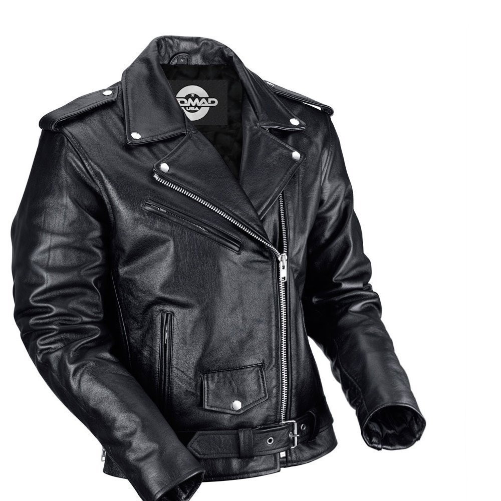 e39d91e7569d5 Nomad USA Classic Leather Biker Jacket for Men - Motorcycle House ...