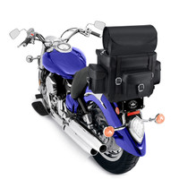 Nomad Revival Series Large Sissy Bar Bag On Bike View