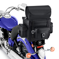 Nomad Revival Series Large Sissy Bar Bag On Bike Zoom View