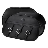 Suzuki Boulevard C109 Trianon Leather Saddlebags 4