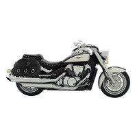 Suzuki Boulevard C109 Trianon Leather Saddlebags 2