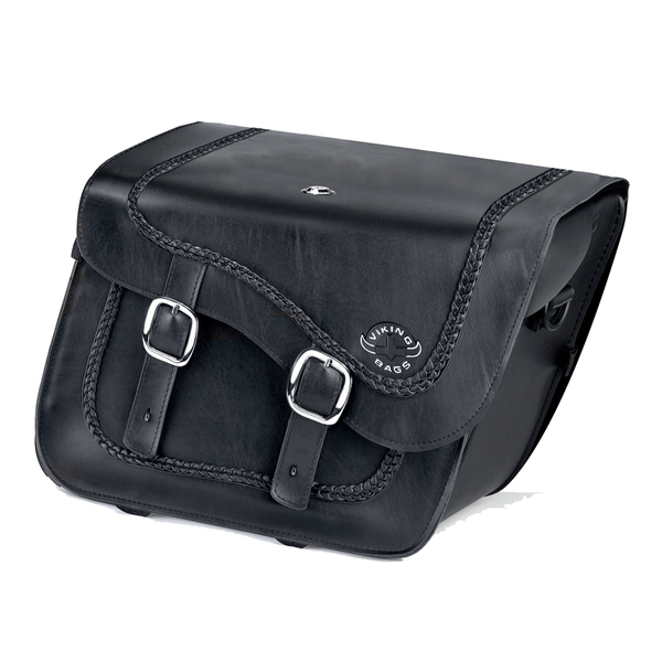 Suzuki Boulevard C90 Charger Braided Leather Saddlebags 1