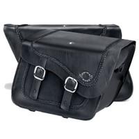 Suzuki Boulevard C90 Charger Braided Leather Saddlebags 4