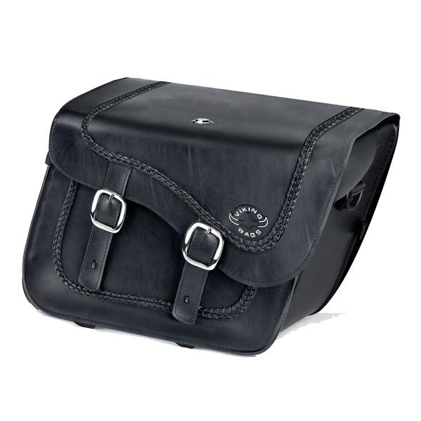Suzuki Boulevard M109 Charger Braided Leather Saddlebags 1