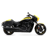 Suzuki Boulevard M109 Warrior large Leather Saddlebags 2