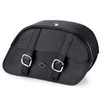 Suzuki Boulevard M95 Charger Slanted Leather Saddlebags