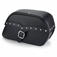 Suzuki Boulevard S83 Charger Large Single Strap Studded Leather Saddlebags
