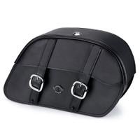 Suzuki Boulevard S83 Charger Medium Slanted Leather Saddlebags 1