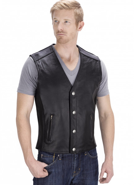 VikingCycle Fifty Cent Motorcycle Vest for Men Front Side