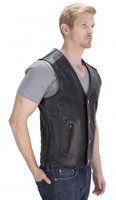 VikingCycle Fifty Cent Motorcycle Vest for Men Side View