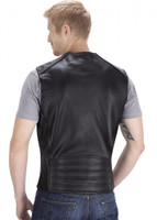 VikingCycle Fifty Cent Motorcycle Vest for Men Back View