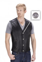 VikingCycle Fifty Cent Motorcycle Vest for Men
