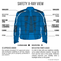 Vikingcycle Warlock Mesh Motorcycle Jacket for Men X-Ray Image 2
