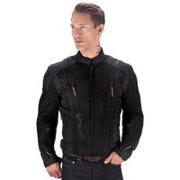 Vikingcycle Warlock Mesh Motorcycle Jacket for Men Black 1