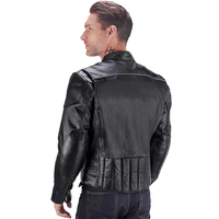 VikingCycle Warrior 2.0 Leather Motorcycle Jacket for Men 3