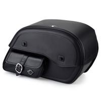 Yamaha V Star 1100 Custom Side Pocket Leather Saddlebags 1