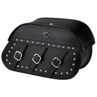 Yamaha V Star 1100 Custom Trianon Studded Leather Saddlebags