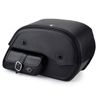 Yamaha V Star 1300 Classic Side Pocket Leather Saddlebags 1
