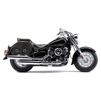 Yamaha V Star 650 Classic Charger Large Slanted Leather Saddlebags