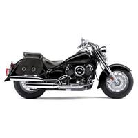 Yamaha V Star 650 Classic Charger Medium Slanted Leather Saddlebags 2