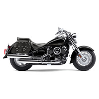 Yamaha V Star 650 Classic Charger Medium Slanted Studded Leather Saddlebags 2