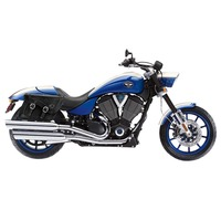 Victory Hammer Charger Braided Leather Saddlebags 2