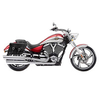 Victory Vegas Charger Braided Leather Saddlebags