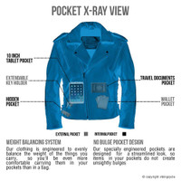 VikingCycle Dark Age Motorcycle Jacket for Men X-Ray