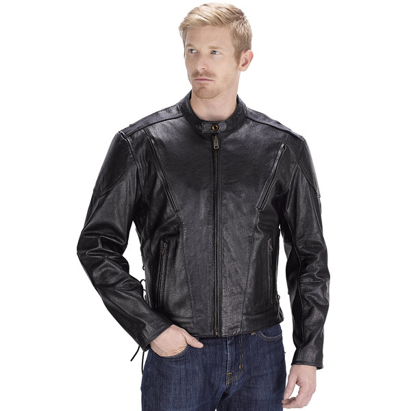 VikingCycle Warrior Motorcycle Jacket for Men Black