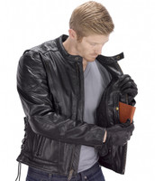 VikingCycle Warrior Motorcycle Jacket for Men Black2