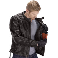 VikingCycle Warrior Motorcycle Jacket for Men Brown 3